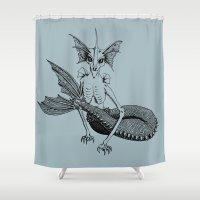 eevee Shower Curtains featuring Eeveelution n.1 by Marina Luchetti