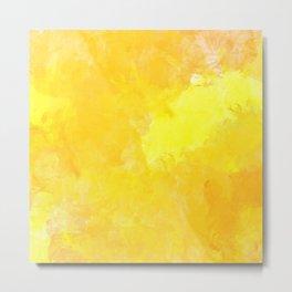 yellow watercolor Metal Print