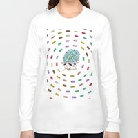 macaroons Long Sleeve T-shirts featuring Vortex of Macaroons  by Pug Whimsy