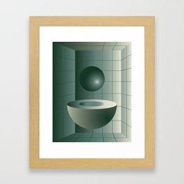 Shape study #5 - Memphis Collection Framed Art Print