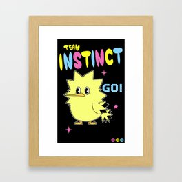 INSTINCTIVE TEAM Framed Art Print
