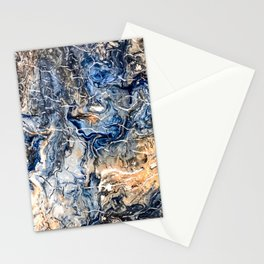 Breaking Waves Abstract Painting Stationery Cards