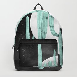 Cactus Nights Full Moon Starry Sky Sage by Nature Magick Backpack
