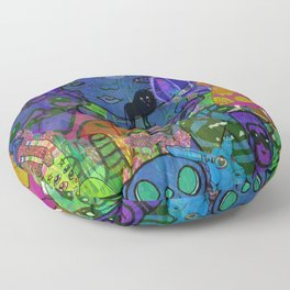 MULTIVERSE MURAL Floor Pillow