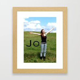 Joy! | Quote | Nadia Bonello Framed Art Print