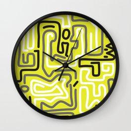 Tokyo Mon Amour - Yellow Winter Wall Clock