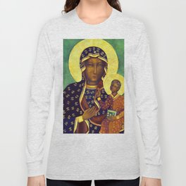Virgin Mary Our Lady of Czestochowa Poland Black Madonna and Child Religion Christmas Gift Long Sleeve T-shirt