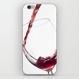 Elegant Red Wine Photo iPhone Skin