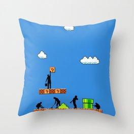 Super Clean Up Throw Pillow