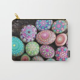 Rock My World Mandala Stones Carry-All Pouch