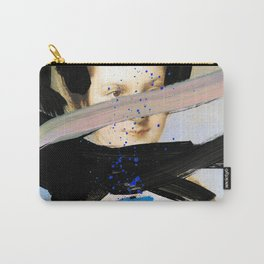 Picture of a Lady With Paint Smears Carry-All Pouch