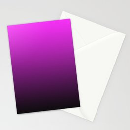 Deep Pink to Black Gradient Stationery Cards