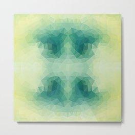 Mozaic design in soft green colors Metal Print