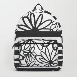 Murietta florals, black & white Backpack