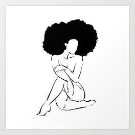Nude in Black No. 3 Art Print