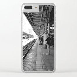 Tokyo station black&withe Clear iPhone Case