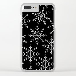 Give Me a Black & White Christmas - 3 Clear iPhone Case