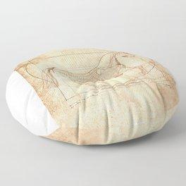 Da Vinci Horse In Piaffe Floor Pillow