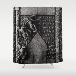 Cave Canem - Wall of Skulls Shower Curtain