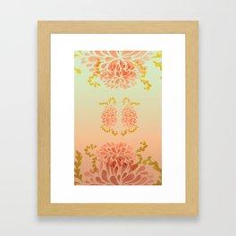 blooming peach Framed Art Print