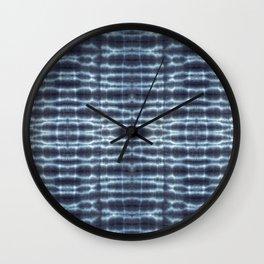 Linen Shibori Stripes Wall Clock