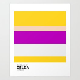 The Colors of Zelda Art Print