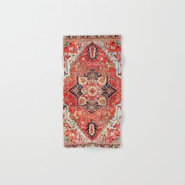 Heriz Azerbaijan Northwest Persian Rug Print Hand & Bath Towel