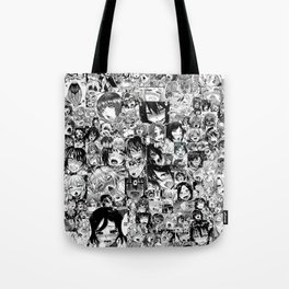 Ahegao hentai faces Tote Bag