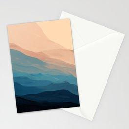 Blue Waves In Desert Peaks Stationery Cards
