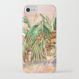 Thirsty Tigers iPhone Case