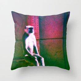 Rainbow Monkey  Throw Pillow