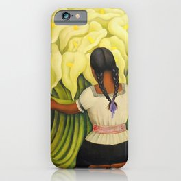 The Cuauhnāhuac Calla Lily Vendor by Diego Rivera iPhone Case
