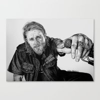 sons of anarchy Canvas Prints featuring Sons of Anarchy by waynemaguire777