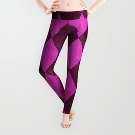 Fuchsia Harlequin Grunge Leggings