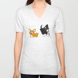 Doggies! Unisex V-Neck