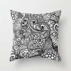 Flower Fountain Throw Pillow