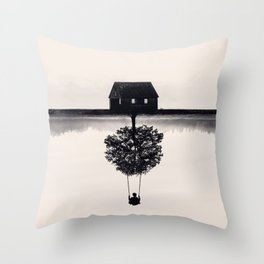 Drift Away (b&w) Throw Pillow