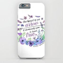 The heart is an arrow iPhone Case