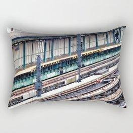 Train platform at Bay 50 street Rectangular Pillow