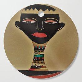 Ebony and Ivory Crown Cutting Board