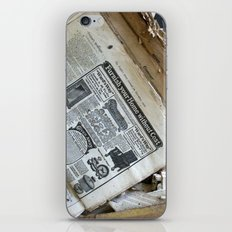 Old Newspaper Left to the Elements...Furnish Your Home in Style iPhone & iPod Skin