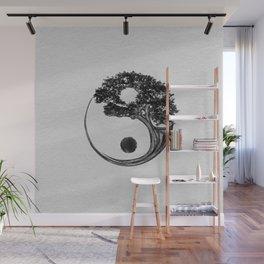 Yin Yang Tree Canvas Wall Mural
