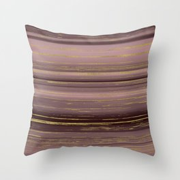 Gold strands Throw Pillow