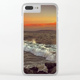 Sunset Wave Clear iPhone Case