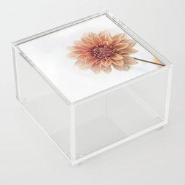 Dahlia Flower Acrylic Box