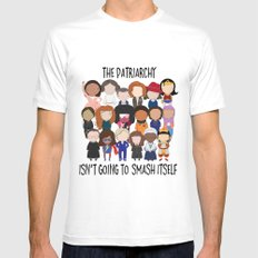Smash the Patriarchy White Mens Fitted Tee MEDIUM