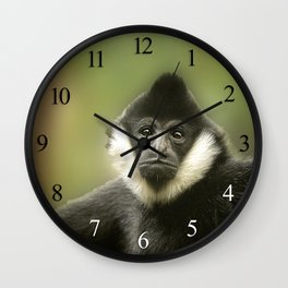 Colobus Monkey Wall Clock