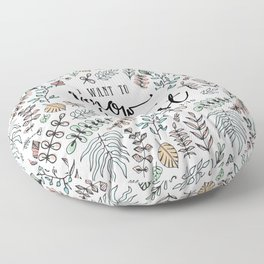 """I Want to Know Christ"" Bible Verse - Color Floor Pillow"