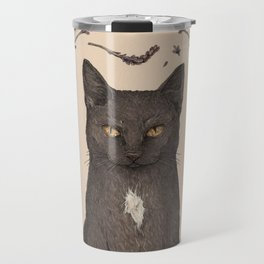 The Cat and Lavender Travel Mug