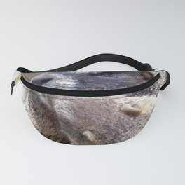 Watercolor Marmot 01, Look at those Pearly Whites! Fanny Pack